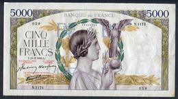 France 5000 Francs VICTOIRE 11/02/1943 SUP/SPL  * Pas De Plis !!!! - 1871-1952 Frühe Francs Des 20. Jh.
