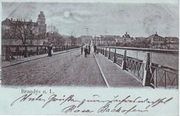 BOHEMIA CZECZHOSLOVAKIA BRANDYS N.L.STARA BOLESLAV 1899 POSTCARD - Czech Republic