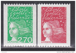 France - 1997 -  Marianne De Luquet   - N° 3084a/3100a- Neuf ** - MNH - Coil Stamps