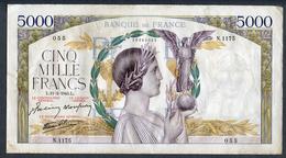 France 5000 Francs VICTOIRE 11/02/1943 TTB/SUP/  * Pas De Plis !!!! - 1871-1952 Frühe Francs Des 20. Jh.