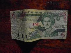 Billet De Banque 5 Dollars Des Caraïbes CARIBBEAN 1 - Caraibi Orientale