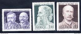 SWEDEN 1973 Nobel Prizewinners MNH / **.  Michel 833-35 - Sweden