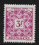 N° 34  TAXE  -  MONACO  -  NEUF  -  1946 : 1957 - Impuesto