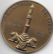 *medaille 1 Er Marathon De Liege 18-11-1984  49 Mm - Andere