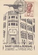 Carte  Locale  A.O.F   Journée  Du  Timbre   SAINT   LOUIS   Du   SENEGAL   1950