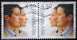 Denmark 2004  MiNr.1369-70  Crown Prince Frederik And Mary Donaldson (O) ( Lot  C 3767) - Usado
