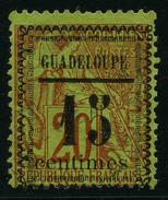 GUADELOUPE - YT 8 - SURCHARGE TYPE II - CENTIMES 12 Mm - TIMBRE OBLITERE - Oblitérés