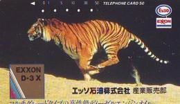 Télécarte Japon * 110-49082 * ESSO * EXXON Animal * TIGRE * TIGER (776) * FELIN * Japan  Phonecard Telefonkarte * TIJGER - Phonecards