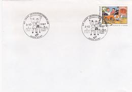 FDC - Bob & Bobette- Lettre Cachet Gent 1987 - Timbre N°2264 - 1981-90