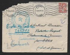 Lot -  Cachet  Ecole Régionale Des Cadres  F.F.I.  De CAHORS  Sur Enveloppe De 1944 - Marcophilie (Lettres)