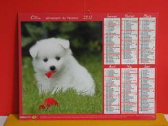 Calendrier Oller > Loulou De Poméranie / Labrador - Almanach Facteur 2015 Comme Neuf - Calendriers