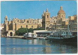Vittoriosa - St. Lawrence Church - BOAT & CRANE - (Malta) - Malta