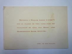 FAIRE-PART De  FIANCAILLES De Henri  GASQUY  Et De Renée DUCUNG  -  PAU - Fiançailles