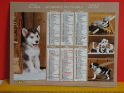 Calendrier Oller > Husky,Braque,Bouledogue,Cavalier King,Chihuahua,Bichons,Golden - Almanach Facteur 2015 Comme Neuf - Calendriers