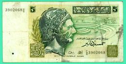 5 Dinars - Tunisie - N°. C/8 3902068 - TB+ - 1993 - - Tunisia