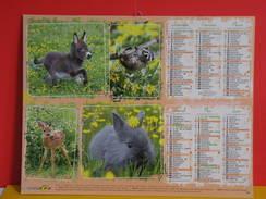 Calendrier Oller > Anon Miniature,Raton Laveur,Faon,Louveteaux,Ecureil,Chevreau - Almanach Facteur 2015 Comme Neuf - Calendriers