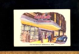 MINNEAPOLIS Minnesota : The Albert PICK NICOLLET Hotel / Mercedes Benz SL Car Illustration - Minneapolis