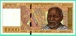 10000 Francs -   Madagascar - N°.A61031715 -  Sup - - Madagascar