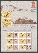 Nbr1536c PERSOONLIJKE POSTZEGEL LANDKAART MAP FLAGS SHIELDS PERSONAL STAMPS NEDERLANDSE ANTILLEN 2004 PF/MNH # - Antillen