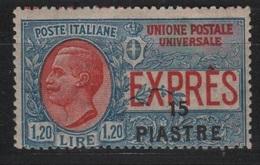 1923 Levante 15 Pi. Su 1,20 L. Espresso MNH - 11. Auslandsämter