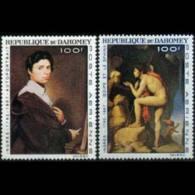 DAHOMEY 1967 - Scott# C49-50 Ingres Paintings Set Of 2 MNH