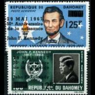 DAHOMEY 1967 - Scott# C55-6 Leaders Surch. Set Of 2 MNH