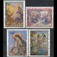 DAHOMEY 1968 - Scott# C89-92 Foujita Paintings Set Of 4 MNH