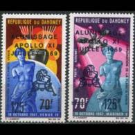 DAHOMEY 1969 - Scott# C103-4 Moon Landing Set Of 2 MNH