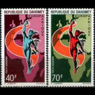 DAHOMEY 1970 - Scott# C127-8 Mercury Set Of 2 MNH