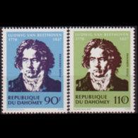 DAHOMEY 1970 - Scott# C129-30 Beethoven Set Of 2 MNH