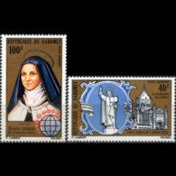 DAHOMEY 1973 - Scott# C180-1 St.Teresa Set Of 2 MNH