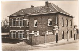 Leerbeek - Gemeentehuis En School - Echte Photo - Uitgave E.D.W. Kester - Gooik