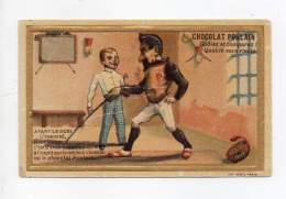 Chromo Gaufré - Chocolat Poulain - Avant Le Duel, L'essentiel, ... - Poulain