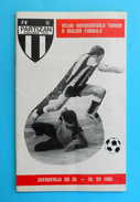 SARAJEVO 1980. - NEW YEAR TOURNAMENT ( Indoor Football - Futsal ) - Official Programme * Bosnia Yugoslavia Programm - Fussball