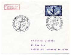 """FRANCE => Env Scotem - 15F Troupes Coloniales -Cachet Secondaire """"Exposition Postale..."""" - BORDEAUX - 1951 - 1950-1959"""