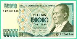 50000 Lirasi - Elli Bin  - Turquie - 1970 - N°. K72006446 - Neuf - - Turkey