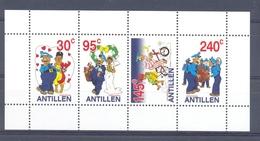 Nbr1445 STRIPFIGUREN FIETS POSTBODE BRUILOFT MAILMEN MARRIAGE BICYCLE FAHRRAD NEDERLANDSE ANTILLEN 2003 PF/MNH - Andere