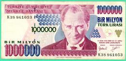 1 000 000 Lirasi - Bir Milyon  - Turquie - 1970 - N°. K38 861053- TB+ - - Turquie