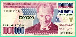 1 000 000 Lirasi - Bir Milyon  - Turquie - 1970 - N°. L39 048159- TB+ - - Turquie