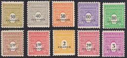 FRANCE Francia Frankreich - 1945 - Série Complète - Yvert 702/711, Neufs, Parfaits, MNH - France
