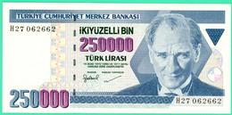 250 000 Lirasi - Ikiyuzelli  - Turquie - 1970 - N°. H27062662 - Neuf - - Turquie