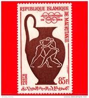 Nuovo - MAURITANIA - 1964 - Giochi Olimpici Di Tokyo - Olimpiadi  - Vaso - Lotta - Wrestling - (intorno Al 520 AC.) - 85 - Mauritania (1960-...)