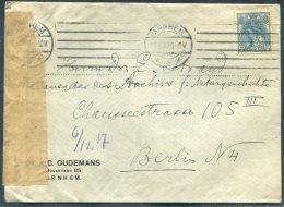 1917 Netherlands Arnhem Dr Oudemans Censor Cover - Berlin - Period 1891-1948 (Wilhelmina)