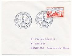 """FRANCE => Env Scotem - 15F Débarquement - Cachet Secondaire """"Xeme Anniversaire Du Débarquement"""" Paris 6/6/1954 - 1950-1959"""
