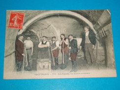 75 ) Paris  : Les égouts  N° 279 - Un Siphon Collecteur - Année 1908 - EDIT : Fleury - Other