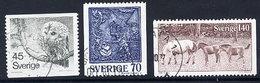 SWEDEN 1977 Definitive: Nature And Handicrafts Set Used.  Michel 991-93 - Sweden