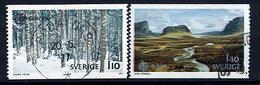 SWEDEN 1977 Europa: Landscapes Used..  Michel 989-90 - Sweden