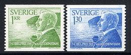 SWEDEN 1976 Nobel Prizewinners MNH / **.  Michel 970-71 - Sweden