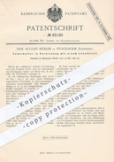 Original Patent - Erik August Hörlin , Stockholm , Schweden , 1892 , Federhalter Mit Löschblatt | Feder , Schreibfeder ! - Historische Dokumente
