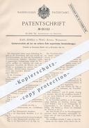 Original Patent - Karl Krnka , Prag , Königl. Weinberge , 1891 , Zylinderverschluss Mit 4 Verschlussknaggen | Waffen !! - Historische Dokumente